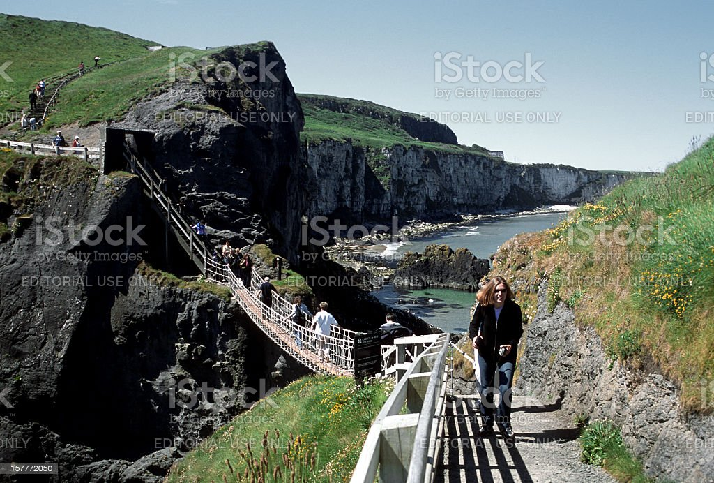 Carrick-a-Rede stock photo