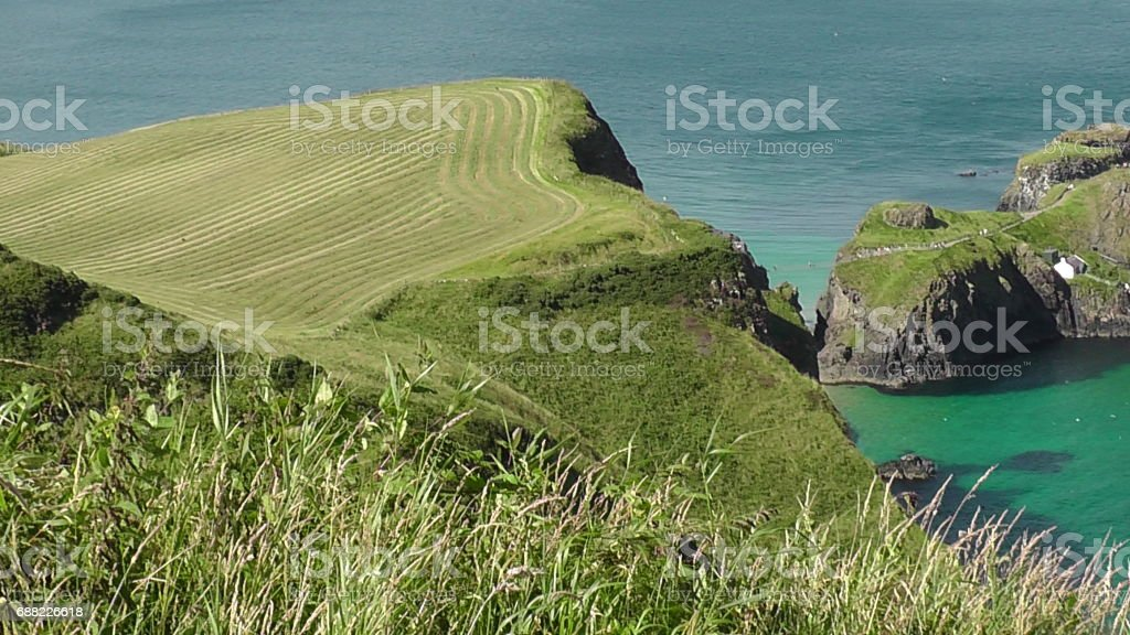 Carrick-a-Rede Rope Bridge, Northern Ireland stock photo