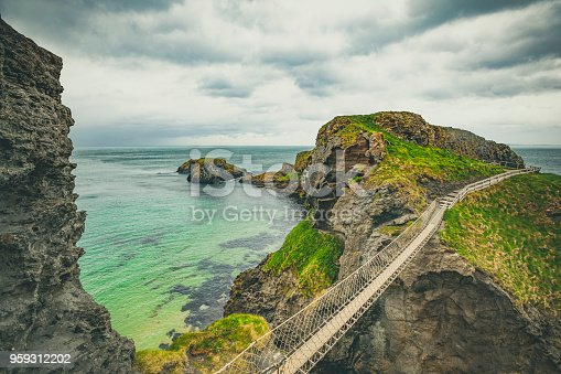 istock carrick-a-rede rope bridge, northern ireland 959312202
