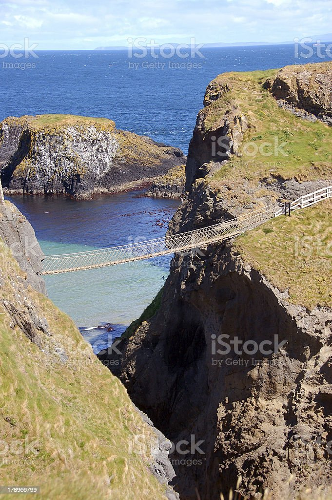 Carrick-A-Rede Rope Bridge royalty-free stock photo