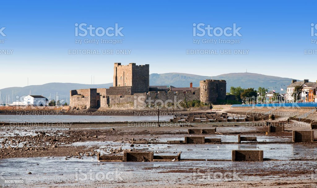 Carrickfergus Castle, Northern Ireland, UK stock photo