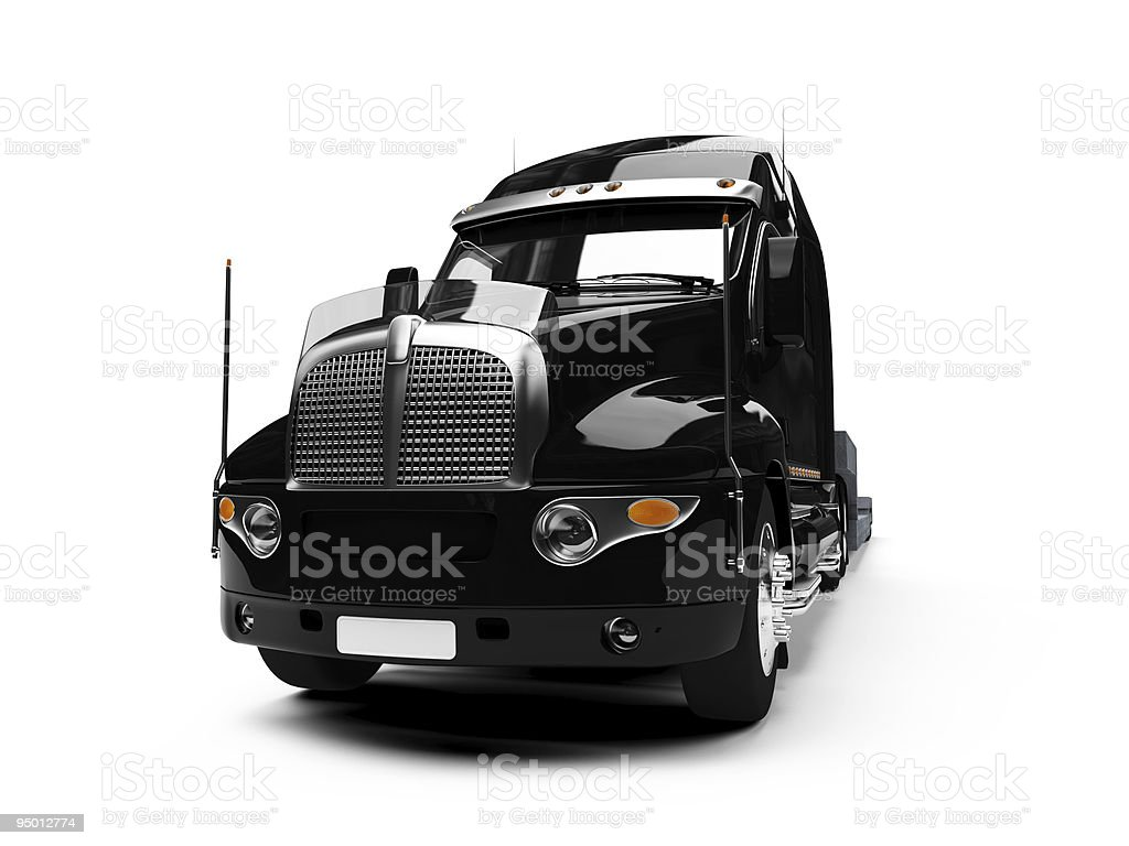 Carrier semi-truck isolated view royalty-free stock photo