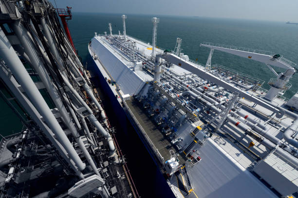 LNG Carrier Terminal stock photo