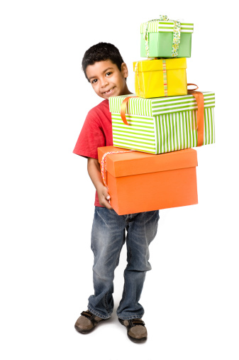 istock Carring a lot of gifts 173865141