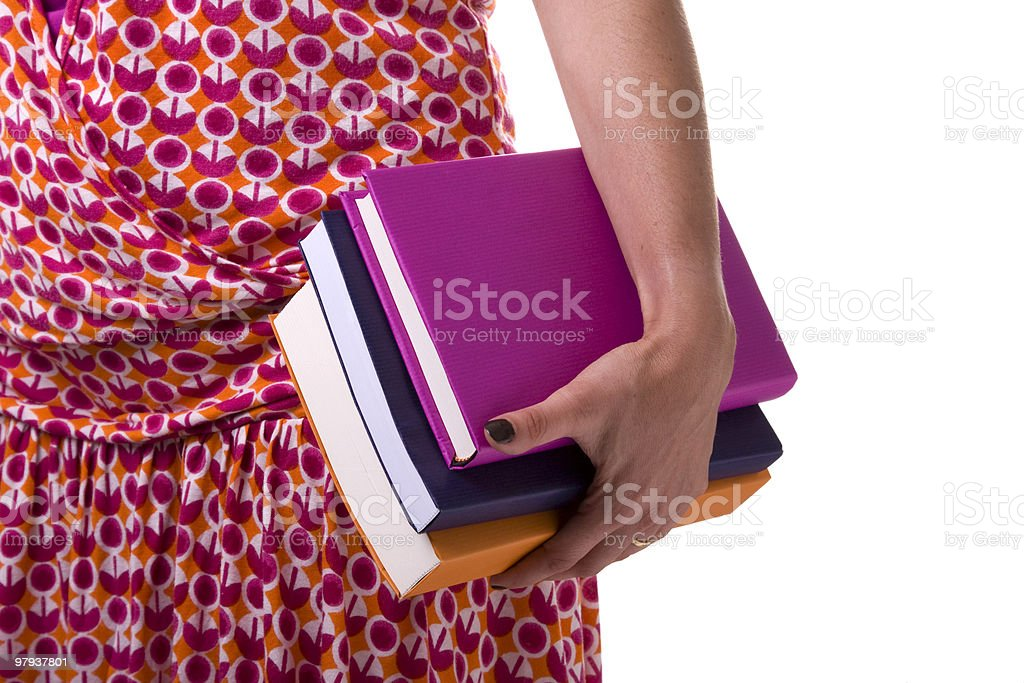 carring books to school royalty-free stock photo