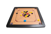 Carrom board game angle view