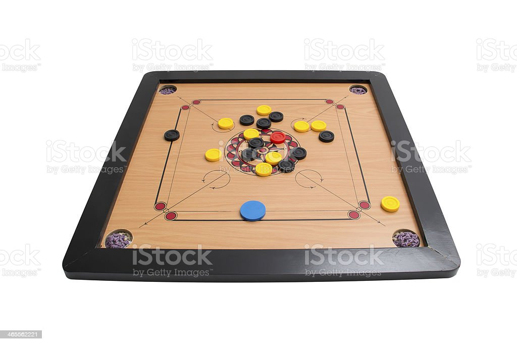 Carrom board game angle view stock photo
