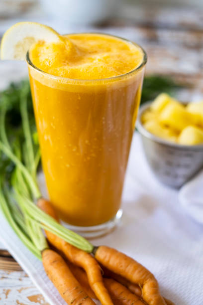 Carrot and Ginger Smoothie stock photo