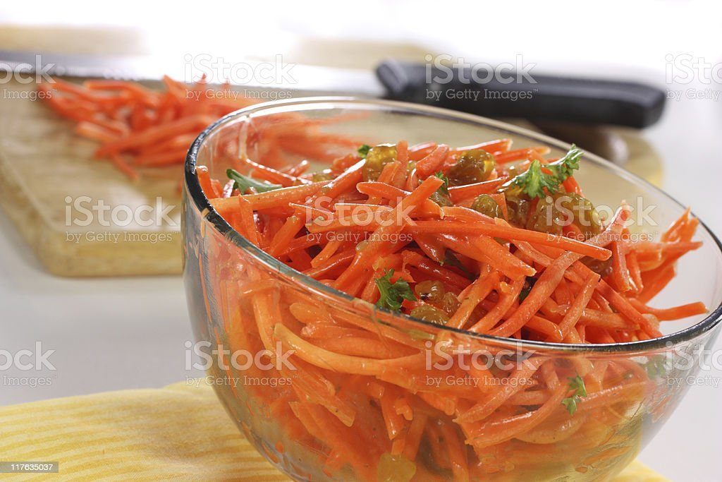Carrot and Raisin Slaw stock photo