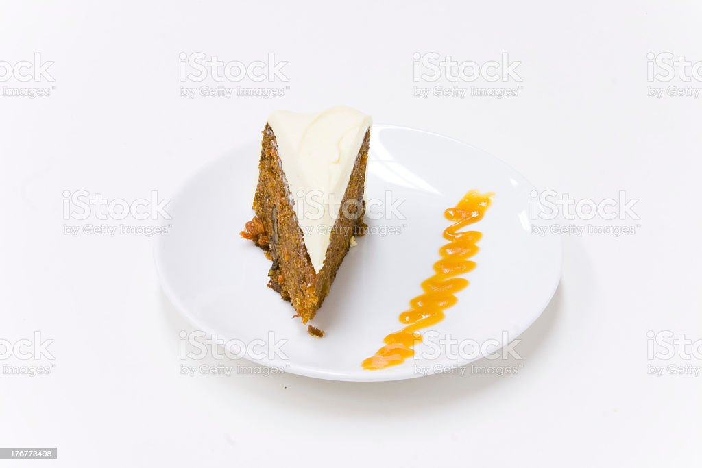 Carrot and roasted hazelnut cake royalty-free stock photo