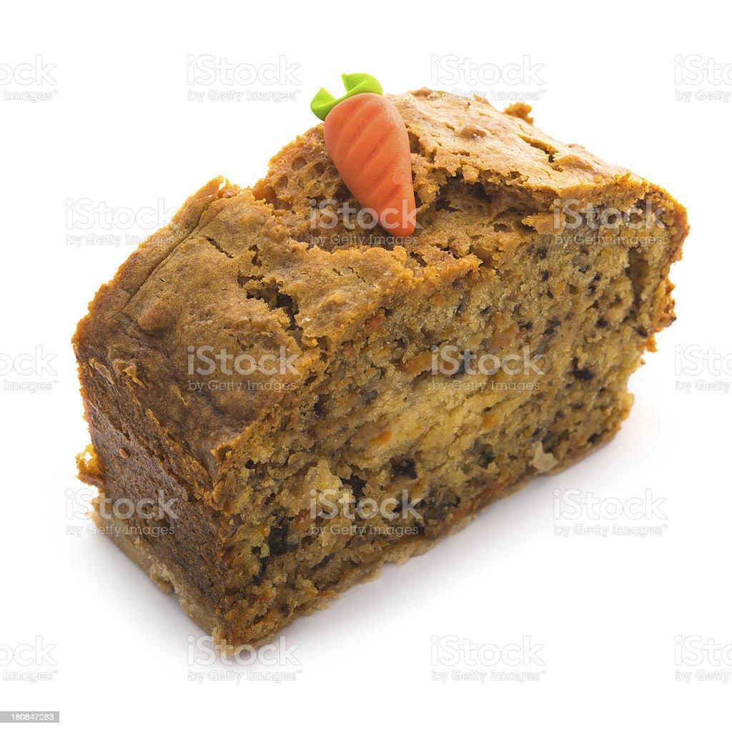 Carrot cake on white background royalty-free stock photo