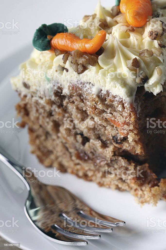 Carrot cake royalty-free stock photo