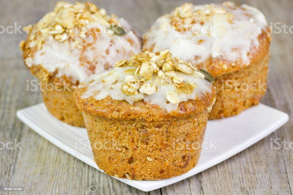 Muffins de zanahoria pasteles - foto de stock