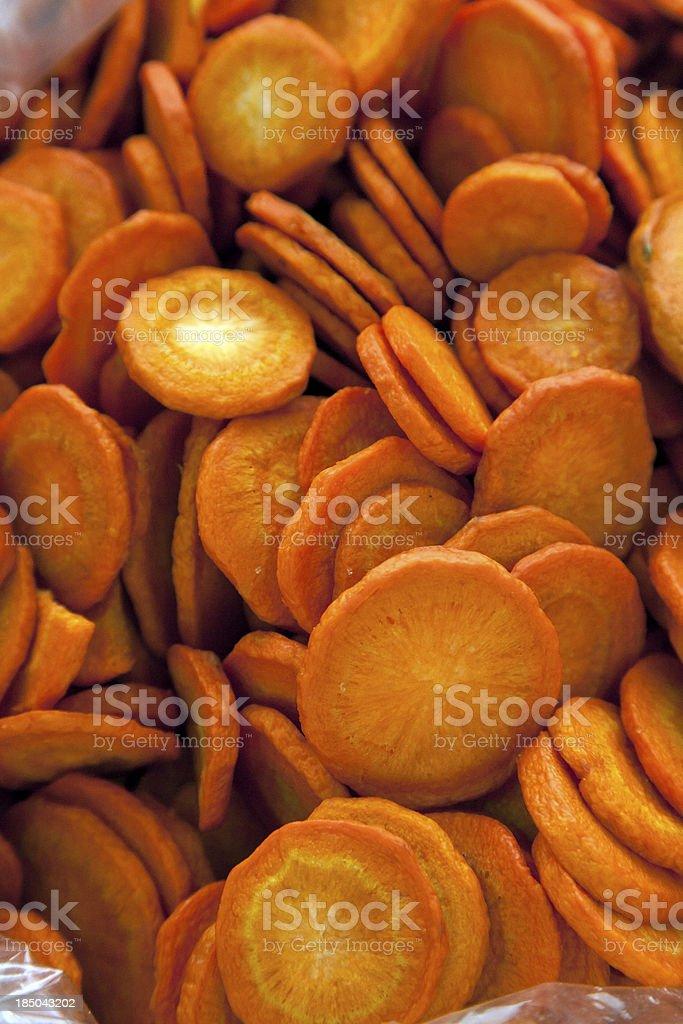Carrot chips Hintergrund – Foto