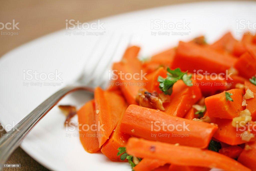 Carrot dish stock photo