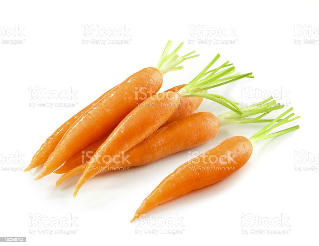 Carrot Heap without Leafs stock photo
