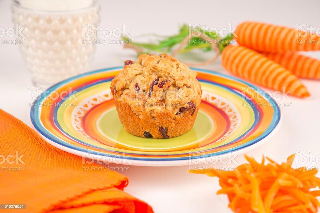 Carrot Muffin stock photo
