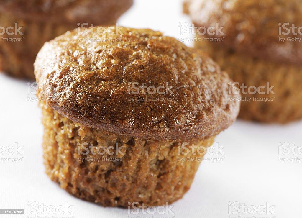 Carrot muffins stock photo