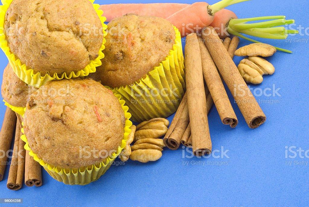 Nozes Muffins de cenoura foto royalty-free