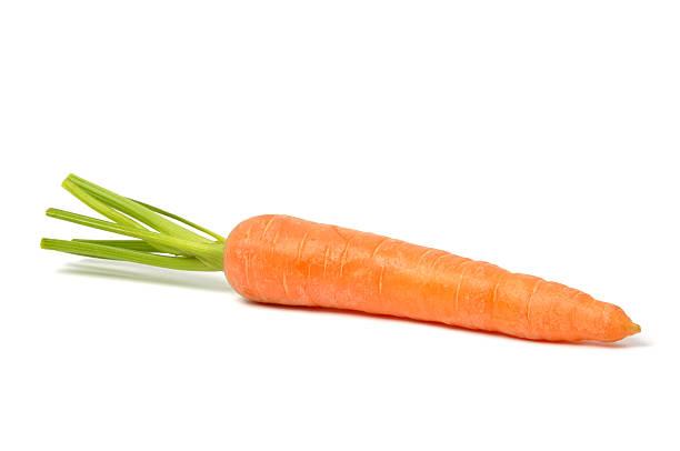 Carrot on White stock photo