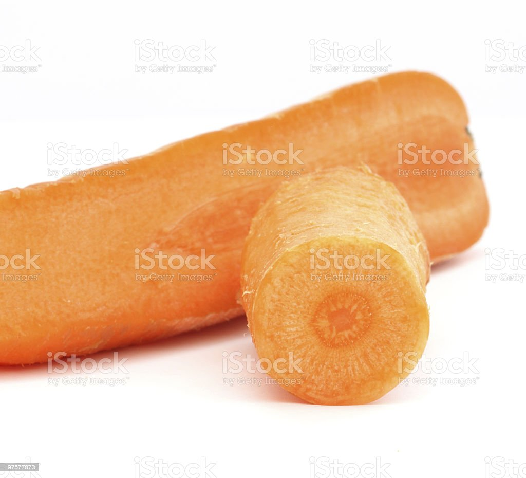 Carrot on white royalty-free stock photo