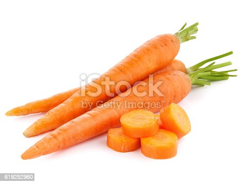 Vegetables: Multi Colored Carrots Isolated on White Background