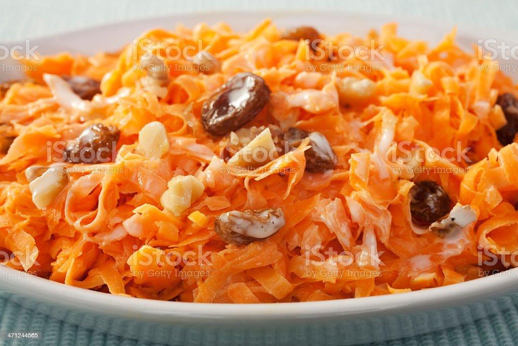 Carrot Raisin Salad with Walnuts stock photo