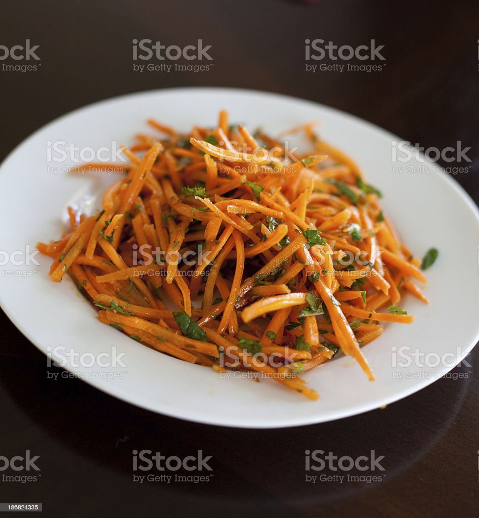 Carrot Salad with Mint stock photo
