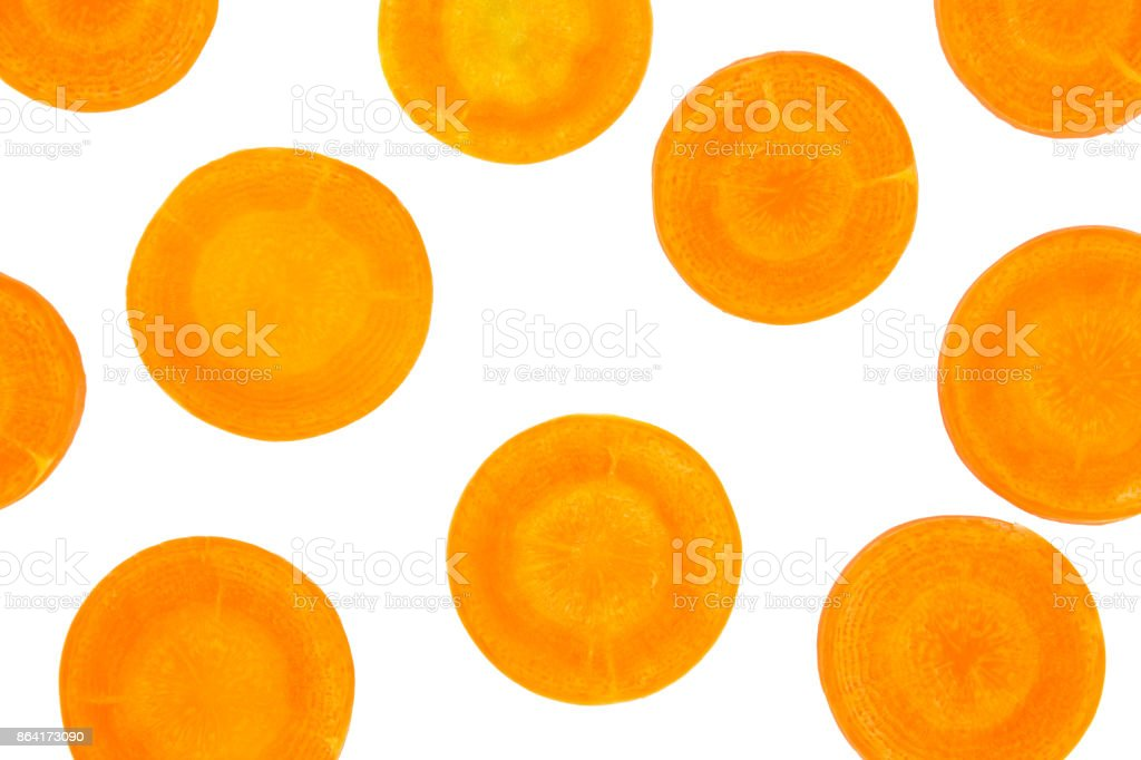 carrot Slice isolated on white background,clipping path royalty-free stock photo