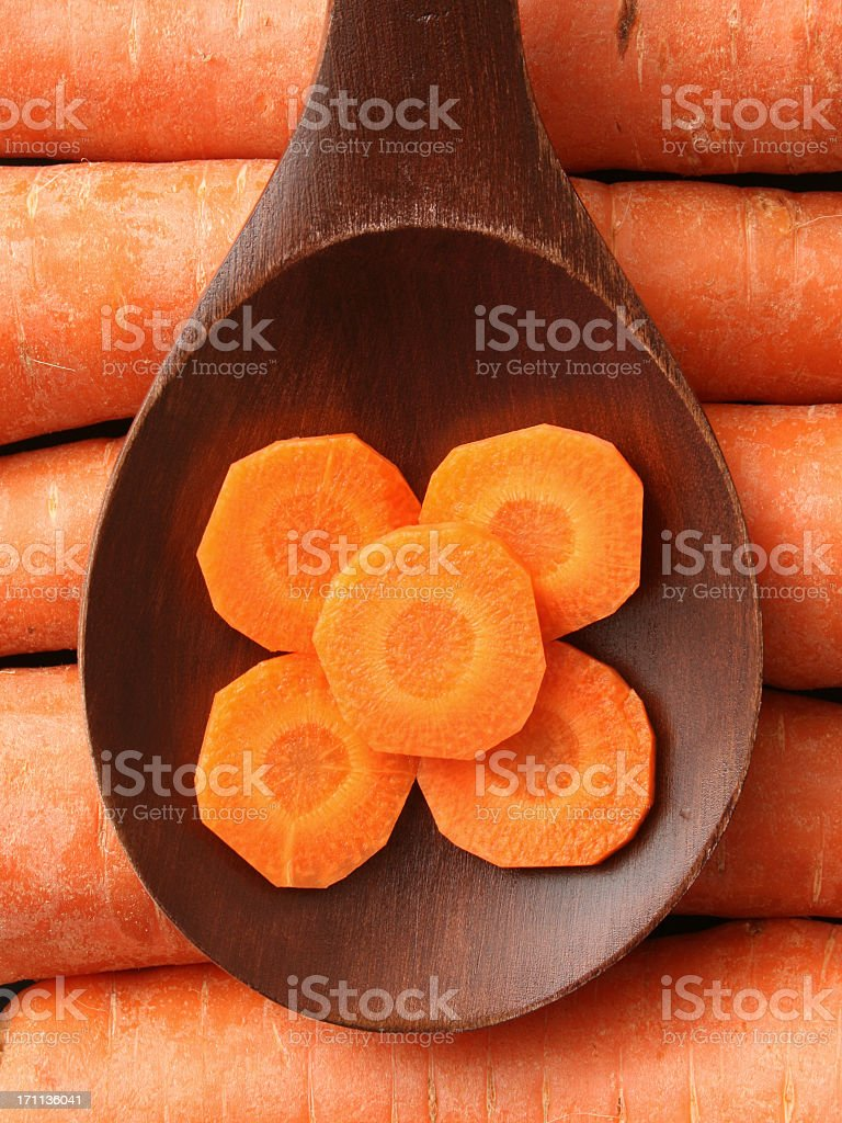 Carrot slices royalty-free stock photo