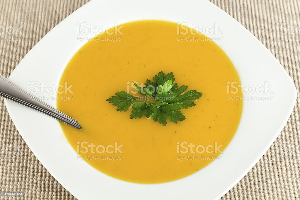 Carrot soup. royalty-free stock photo