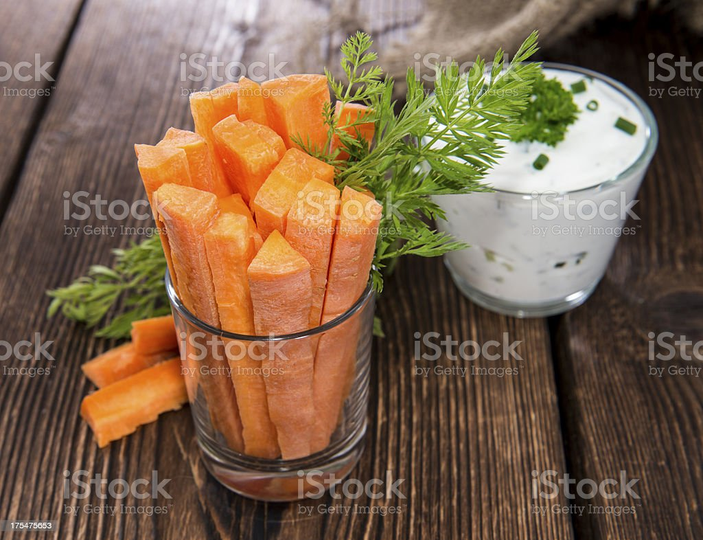 Carrot Sticks in a glass stock photo
