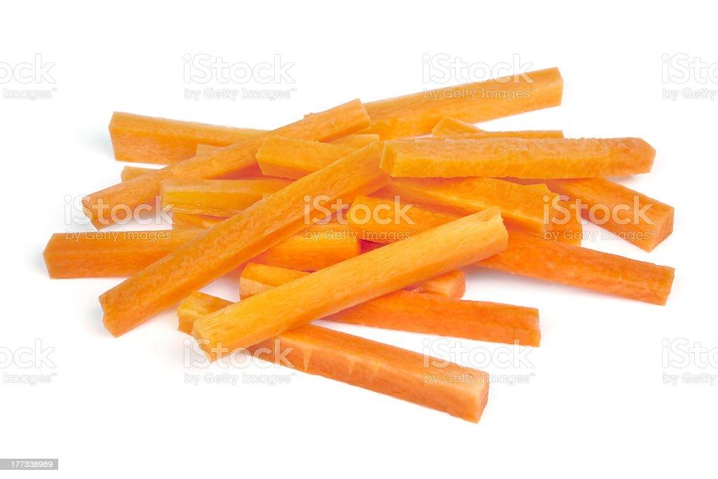 Carrot Sticks Isolated on White stock photo