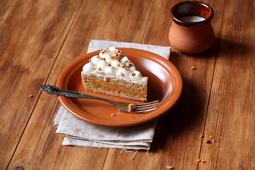 Carrot Tart with Cream Cheese Frosting