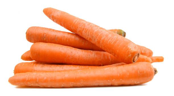 carrot tubers isolated on white background - cenoura imagens e fotografias de stock