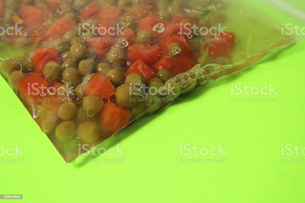 Karotten und grünen Bohnen Lizenzfreies stock-foto