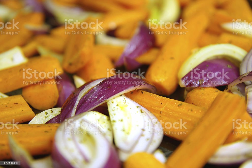 Carrots and Onion stock photo