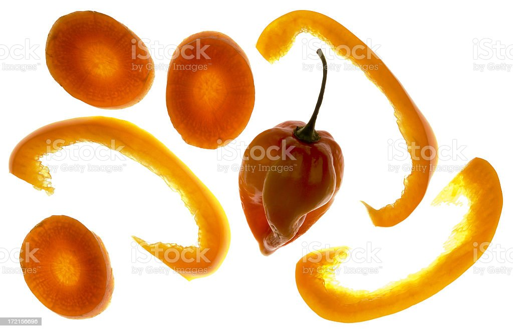 Carrots and peppers royalty-free stock photo