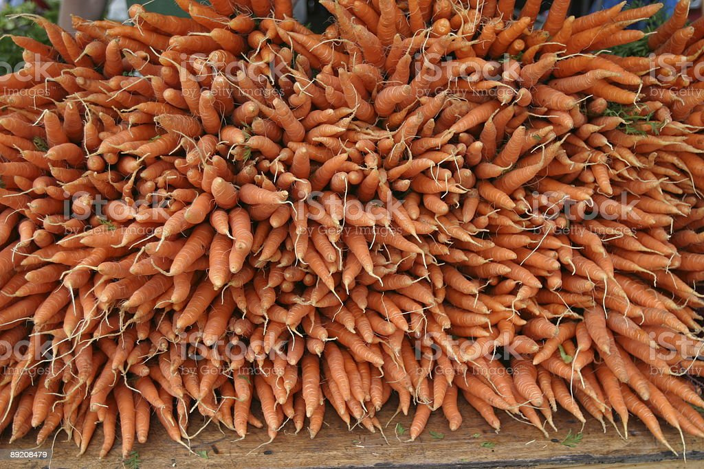 Carrots at Market royalty-free stock photo