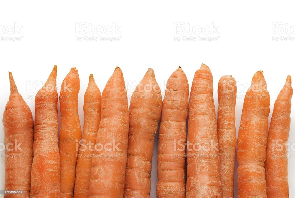 Carrots Border royalty-free stock photo