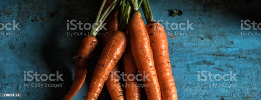 Carrots bunch freshness harvest carotene antioxidant vitamin for royalty-free stock photo