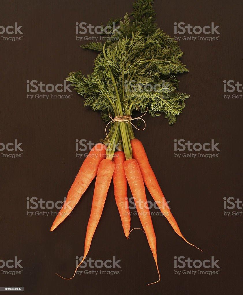 Carrots bunch stock photo