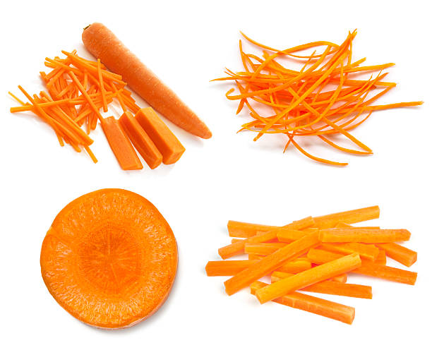 carrots collection isolated on white - carrots stock photos and pictures