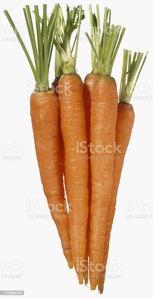 carrots cut out on white royalty-free stock photo