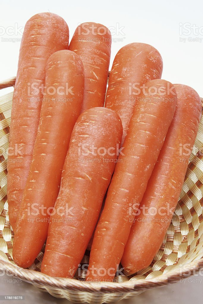 Carrots in Basket royalty-free stock photo