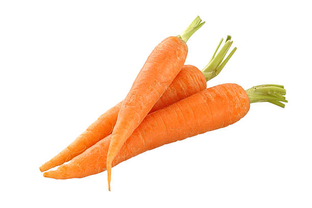 Carrots Carrots isolated vegetables on white background carrot stock pictures, royalty-free photos & images
