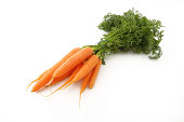Bunch of Colorful Rainbow carrots isolated on white background