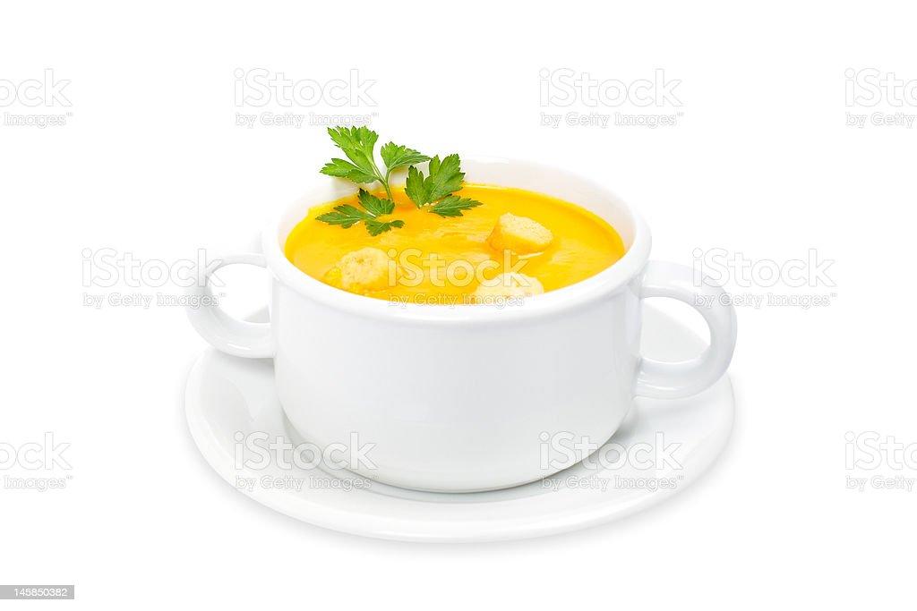 Carrots puree royalty-free stock photo