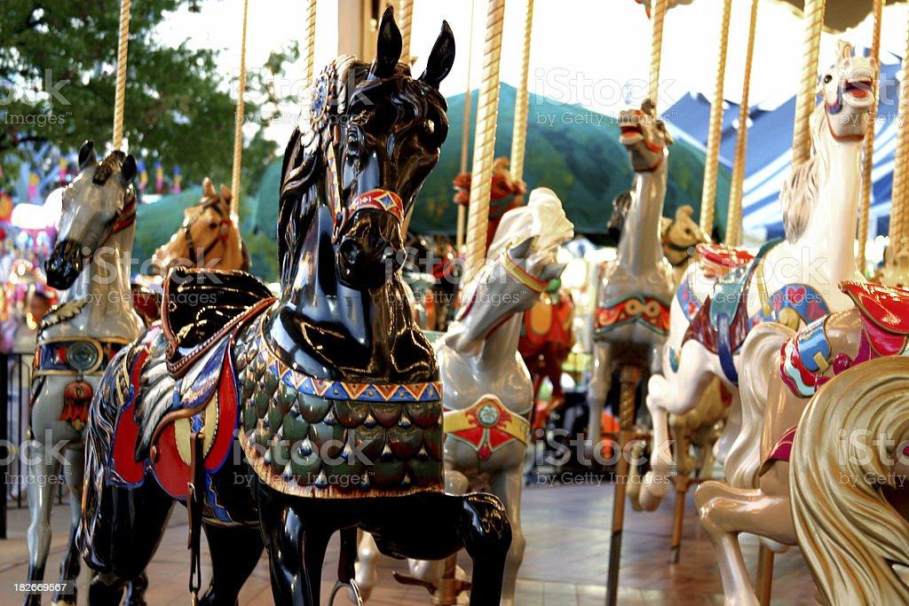 Carrousel Horse - Black stock photo
