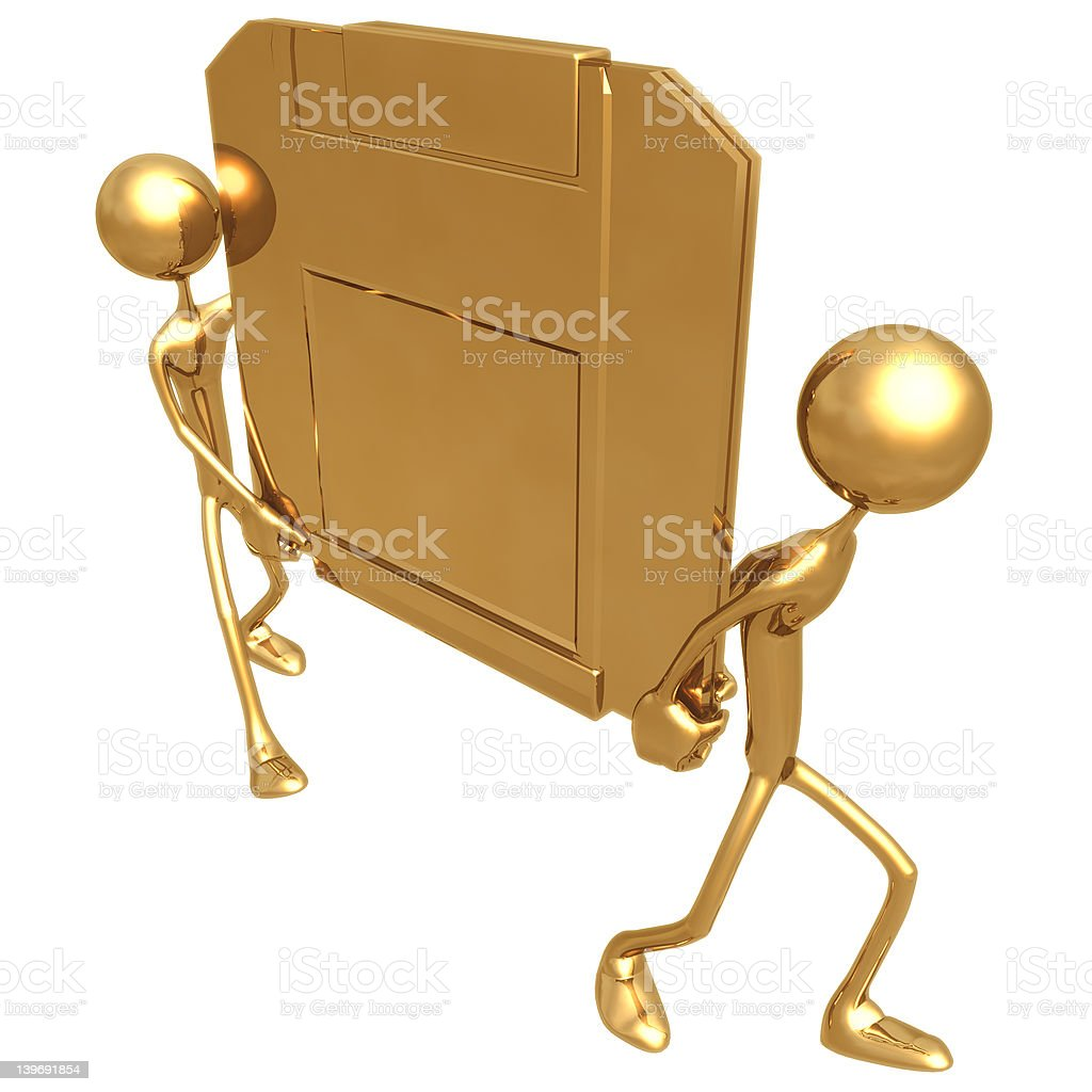 Carry Data 01 royalty-free stock photo